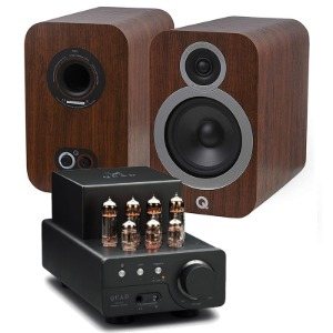 Qacoustics(큐어쿠스틱) 3030i (English Walnut) + 쿼드(QUAD) VA-ONE Plus