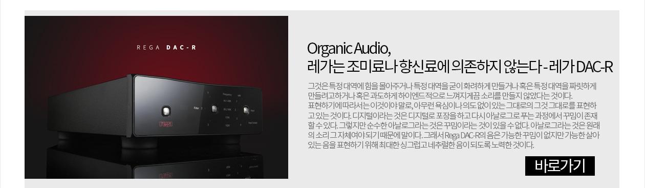 레가 DAC-R - Organic Audio, 레가는 조미료나 향신료에 의존하지 않는다.